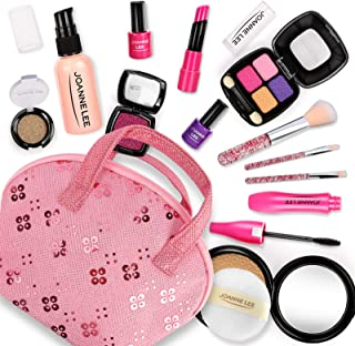 BeebeeRun Pretend Makeup Kit for Girls, Beauty Basic 13 Piece Kids Makeup Set,Dress Up Pretend Play Toys Comes with Cosmet...