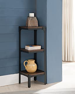 Kings Brand Furniture 3 Tier Antique Finish Corner Bookshelf Bookcase