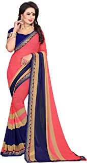 Oomph! Georgette Saree with Blouse Piece