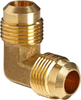 Anderson Metals Brass Tube Fitting, 90 Degree Elbow, 1/2