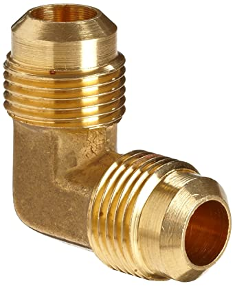 5//16 x 5//16 Flare 90 Degree Elbow Anderson Metals Brass Tube Fitting