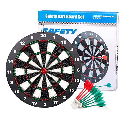 WloveTravel Dart Board Safe Darts 18 Inch Professional Dartboard Set Soft Tip Darts for Kids and Adult