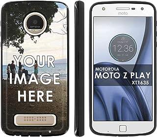 Motorola Verizon MOTO [Z Play] Droid XT1635 Slim Anti-Shock Designer Phone Case Amazon Custom Tool Make Your Own Personal Phone Case