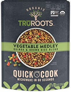 TruRoots Quick Cook, Quinoa and Brown Rice Blend, Vegetable Medley, 8 Count, 8.5 Ounces, 8 Count