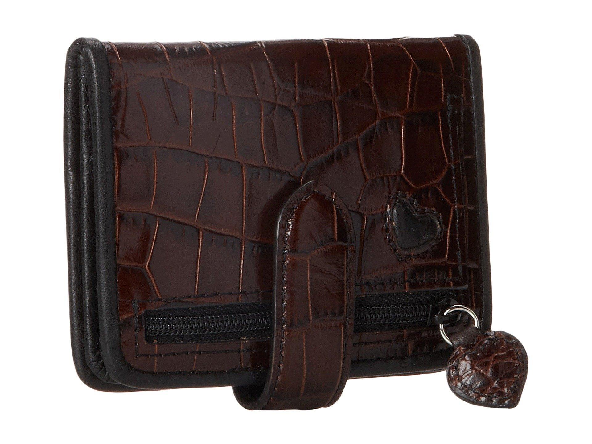 Wallet Small Black Heart chocolate Brighton Bellisimo nxqCwvzzF