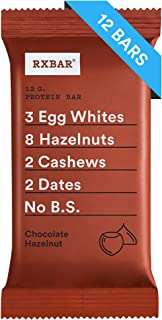 RXBAR, Chocolate Hazelnut, Breakfast Bar, High Protein Snack, 1.83 Ounce, Pack of 12