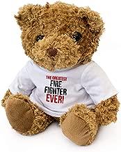 New - Greatest FIRE Fighter Ever - Teddy Bear - Cute Soft Cuddly - Award Gift Present Birthday Xmas