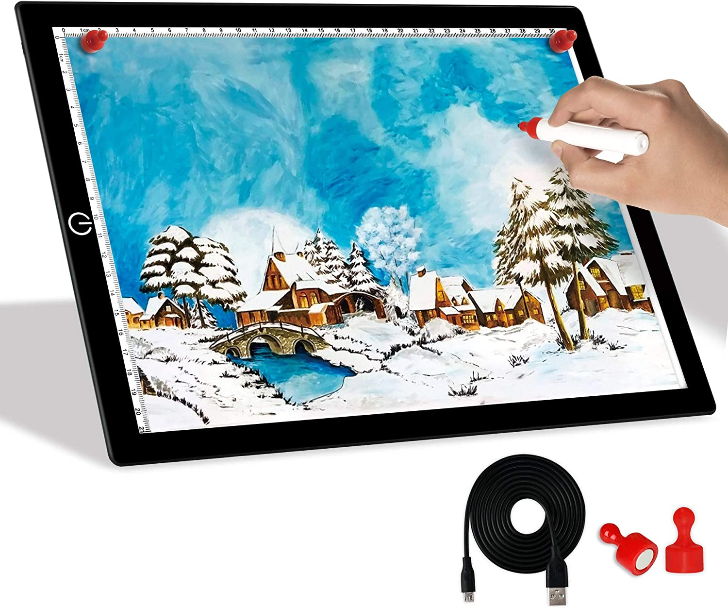 A4 Light Board Dimmable Albuquerque Mall outlet Brightness Portable Tracing L Ultra-Thin