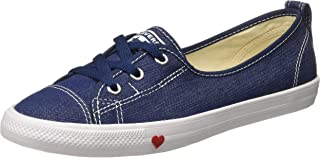 Converse Women's Textile Indigo/White/Enamel Red Sneakers-4 UK/India (36.5 EU) (8907788166275)