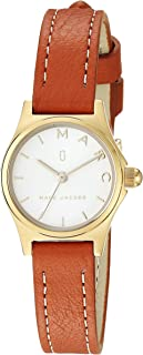 Marc Jacobs Women's 'Henry' Quartz Stainless Steel and Leather Casual Watch, Brown (Mj1626), Analog Display