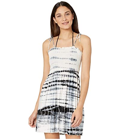BECCA by Rebecca Virtue Tide Pool Tie-Dye Convertible Dress/Skirt Cover-Up (Black) Women
