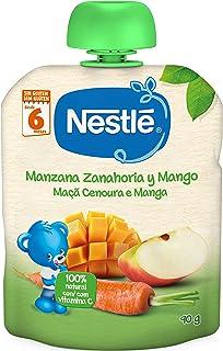 Nestlé Bolsita de puré de frutas, variedad Manzana Zanahoria y Mango, para bebés a