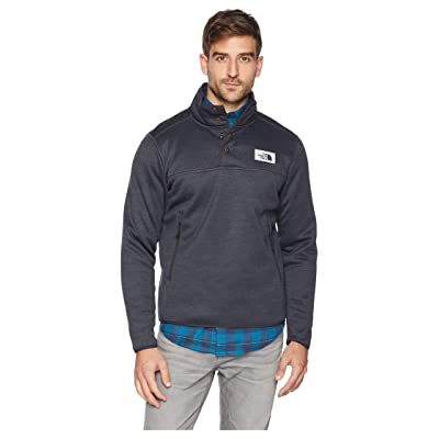 The North Face Sherpa Patrol 1/4 Snap Pullover (Weathered Black Heather) Men