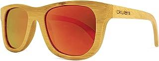 Okulars® Natural Bamboo - Occhiali da Sole in Legno di Bambù Naturale Uomo e Donna, Fatti a Mano - Taglia Unica - Lenti Po...