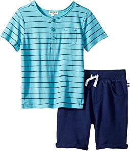 Yarn-Dye Henley Tee Set (Toddler)