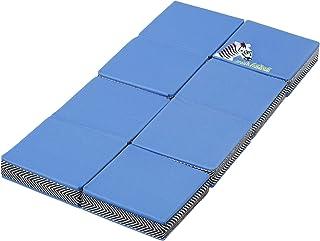 西川 リビング お昼寝枕 オフィス仮眠 デスク枕 折りたたんで使える 高さ形を変えられる まくら 自宅 クッション konemuri こねむり おひるねピロー パタパタ シマウマ 243600186 ブルー 20×40×2.5cm