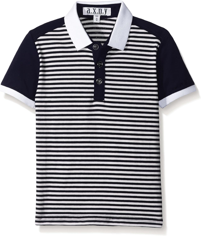 AXNY a.x.n.y Boys' Stripe Contrast Polo