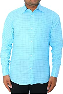 White King Men Cotton Formal Shirt (Baby Blue)