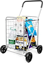 SUPENICE Grocery Utility Shopping Cart – Deluxe Utility Cart with Oversized Basket..