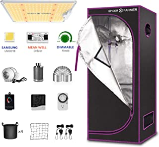 SPIDER FARMER SF1000 LED Grow Light and 2.3/'x2.3 Grow Tent