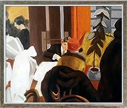 لوحة زيتية مؤطرة لمطعم La Pastiche New York، 66.4 × 22.4 بوصة، متعددة الألوان