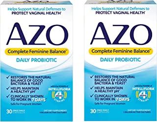 AZO Complete Feminine Balance Women's Daily Probiotic | Clinically Proven to Help Protect Vaginal Health | Clinically Show...