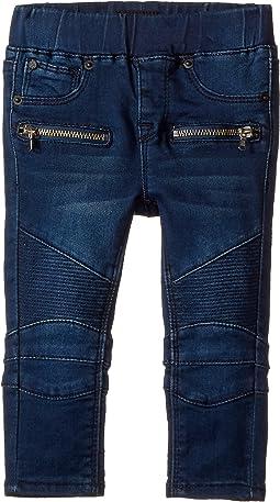 Hudson Kids - Moto Fit Skinny Pull-On Fit Jeans in Nile (Infant)