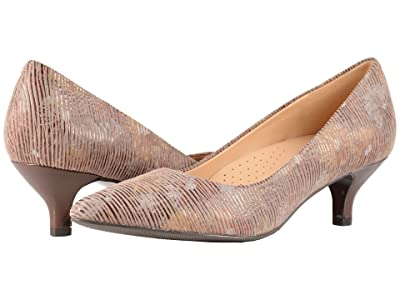 Trotters Kiera (Tan Multi Metallic Foil Leather) Women
