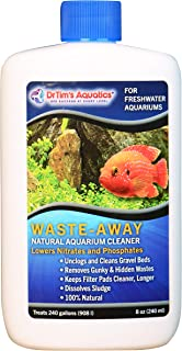 DrTim's Aquatics Freshwater Aquarium Products, 100% Natural Eco-Friendly Fish Tank Cleaner, Clarifies Water, Removes Toxin/Hidden Waste, Reduces Organics, Blocks Bacteria, Optimizes Water Quality