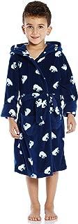 Image of Blue Polar Bear Fleece Bath Robe for Boys and Toddlers