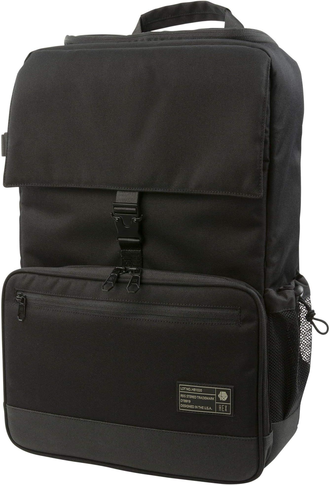 HEX Backloader DSLR Backpack, Black, with Back Loading, Tripod Straps and Adjustable Interior Dividers
