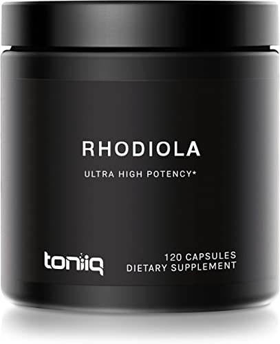 Triple-Strength 600mg Rhodiola Rosea - 120 Capsules - 5% Salidroside Concentrated Extract - The Strongest Rhodiola Su...