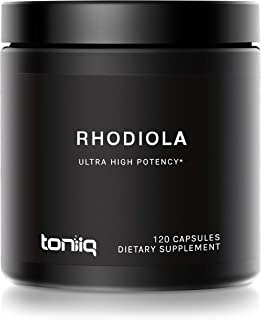 Triple-Strength 600mg Rhodiola Rosea - 120 Capsules - 5% Salidroside Concentrated Extract - The Strongest Rhodiola Supplem...