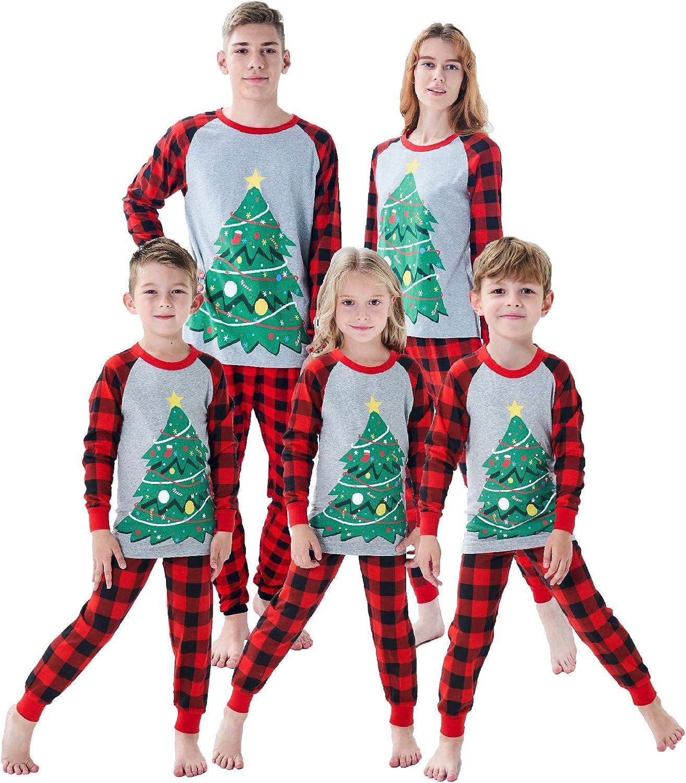 Demifill Family Matching Christmas Pajamas Boys Girls Holiday Pajamas Kids Sleepwear Christmas Pjs