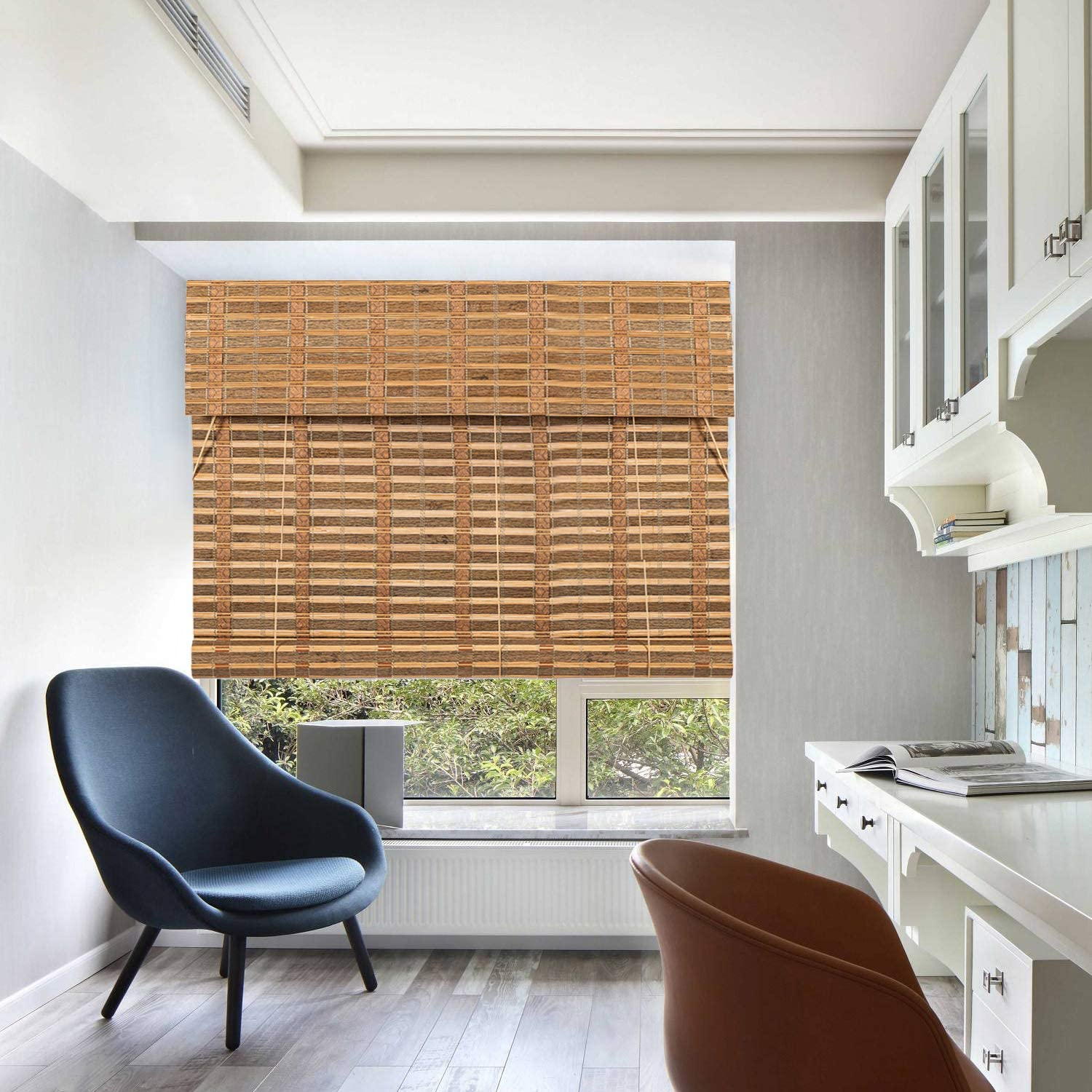TJ shop El Paso Mall Global Bamboo Roll Up Window Sun Filtering Blind Shade Light