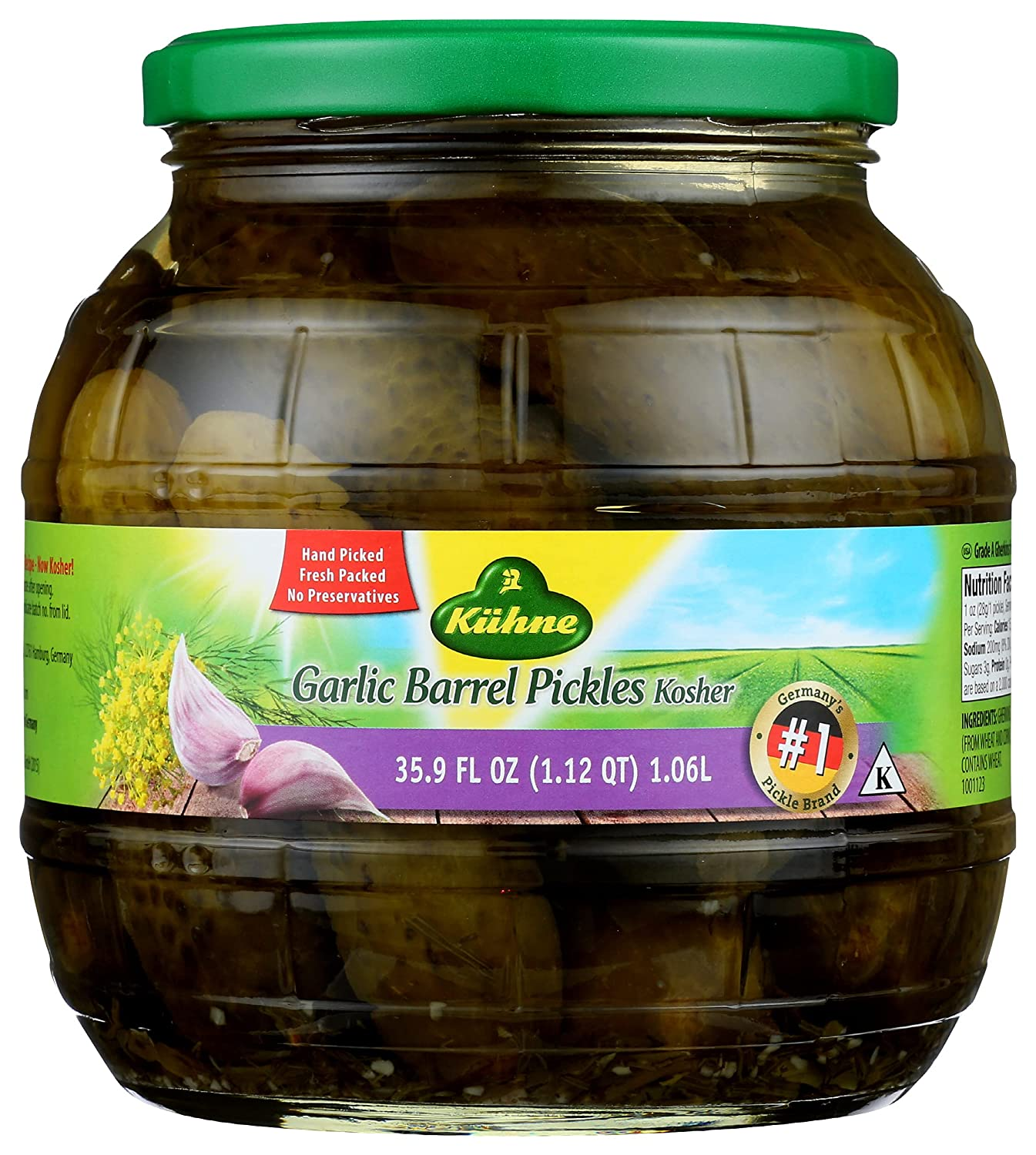 Kuhne Barrel Pickles oz. New product Ranking TOP7 type Garlic 35.9