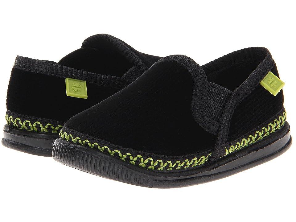 Foamtreads Kids Innsbruck (Toddler/Little Kid/Big Kid) (Black/Green) Kids Shoes
