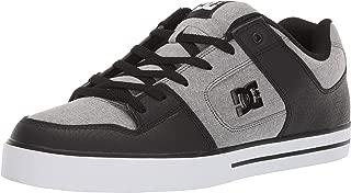 DC Men's Pure SE Skate Shoe, Grey, 9.5 M US