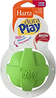 Hartz Dura Play Bacon Scented Ball Dog Toy - Large ( Colors may vary )