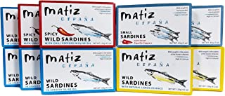 Sponsored Ad - Matiz Sardines Variety Pack, Wild Caught Spanish Waters | 10 Tins | In Olive Oil, Sweet Piquillo Pepper, Sp...