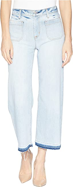 Holly High-Rise Wide Leg Crop w/ Released Hem in Frame of Mind