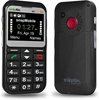 Snapfon ezTWO Senior Unlocked GSM Cell Phone, SOS Button, Hearing Aid Compatible