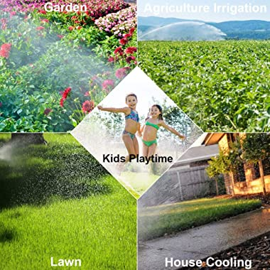 Blisstime Lawn Sprinkler, Automatic 360 Rotating Adjustable Garden Water Sprinklers Lawn Irrigation System Covering Large Are