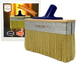 Deck Stain Brush Applicator by Foxtrot - Fast Application for Stain, Paint and Sealers – Professional Grade – 7 Inch Brush Head