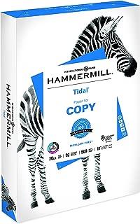 Hammermill Paper, Tidal Copy Paper, 11 x 17 Paper, Ledger Size, 20lb Paper, 92 Bright, 1 Ream / 500 Sheets (162024R)