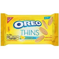 Oreo Thins Lemon Creme Sandwich Cookies, 10.1 Ounce