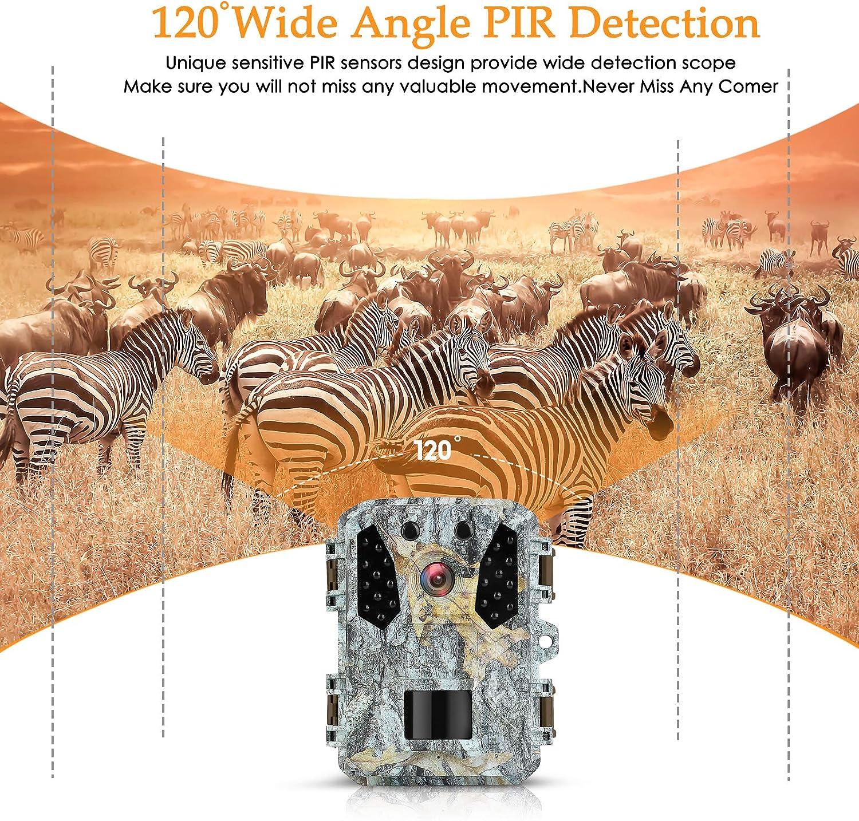 "KUFA Mini Trail Camera 20MP 1080P,Free 32GB SD Card and 4AA Batteries,Game Camera Infrared Sensors 120° No Glow IR Night Vision Motion Activated,2"" LCD,IP65 Waterproof: Camera & Photo"