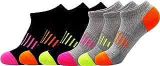 جوارب للكاحل من زوليستو رياضية كاجوال للرجال والنساء جوارب رياضية ملونة ذات قطع منخفض قابلة للتنفس لا تظهر جوارب 6 أزواج