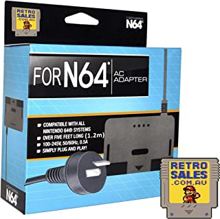 N64 Power Supply Adapter AU Suitable Replacement for Nintendo 64 Power Cord AC Adapter Safety Protection Region Free