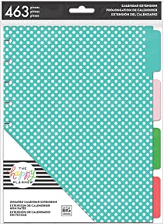 me & my BIG ideas 6 Month Calendar Extension - The Happy Planner Scrapbooking Supplies - 6 Pre-Punched Dividers - Undated ...